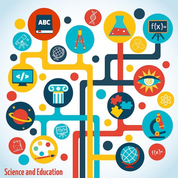 Wissenschaft baum infografiken Premium Vektoren