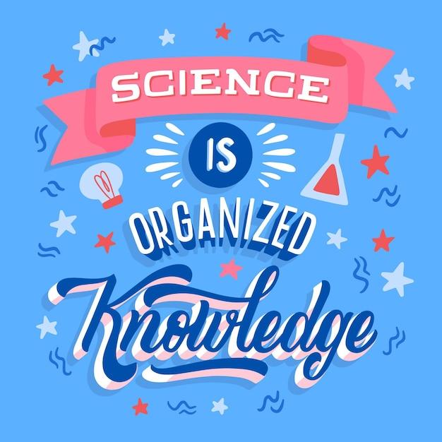 Wissenschaft ist organisierte wissensbeschriftung Kostenlosen Vektoren