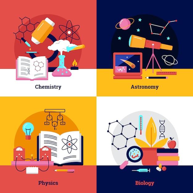 Wissenschaft quadratische banner Kostenlosen Vektoren