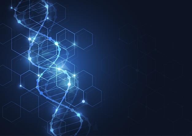 Wissenschaft vorlage hintergrund Premium Vektoren