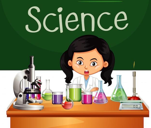Wissenschaftler, der im labor arbeitet Kostenlosen Vektoren