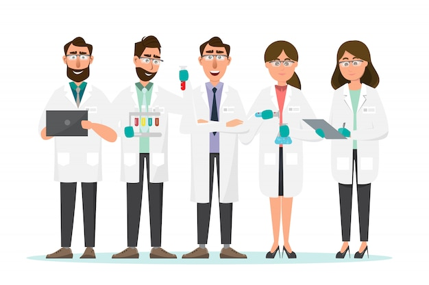 Wissenschaftler Premium Vektoren