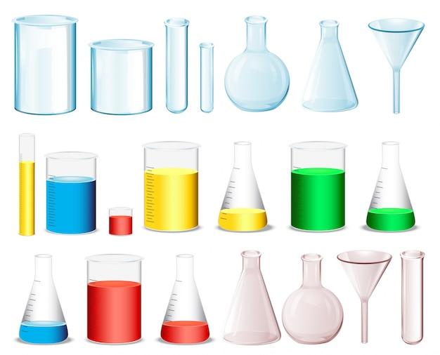 Wissenschaftliche behälter Kostenlosen Vektoren