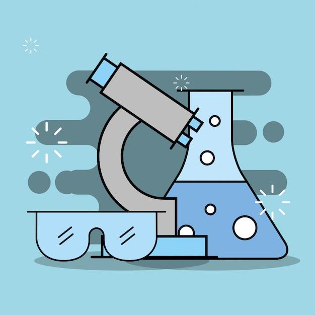 Wissenschaftliche laborforschung Premium Vektoren