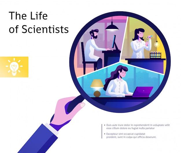 Wissenschafts-leben-zusammenfassungs-zusammensetzung Kostenlosen Vektoren