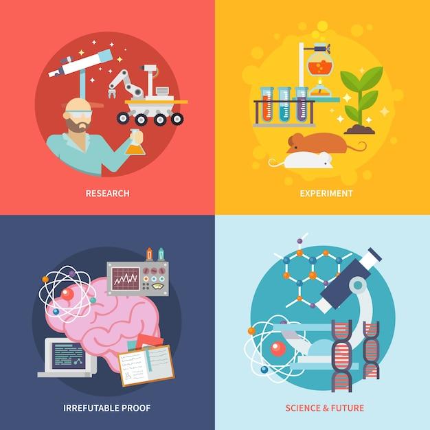 Wissenschafts- und forschungsset Kostenlosen Vektoren
