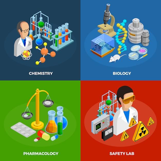 Wissenschaftskonzeptikonen eingestellt Kostenlosen Vektoren