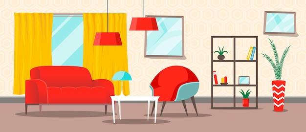 Wohnraum - hintergrund für videokonferenzen Kostenlosen Vektoren
