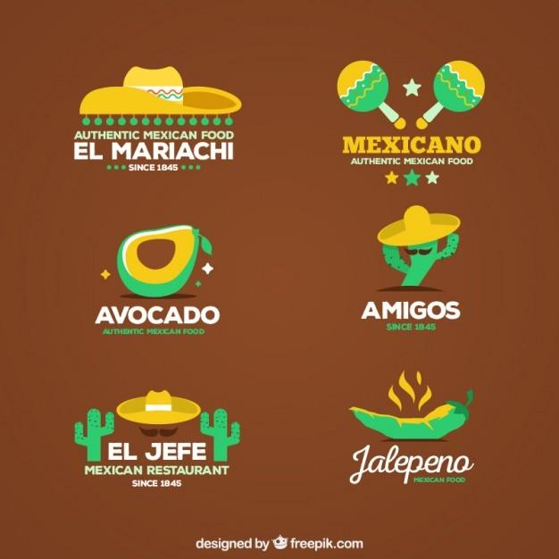 Wohnung mexikanische logo restaurant set download der for Meine wohnung click design download