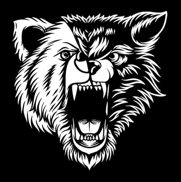 Wolf bär Premium Vektoren