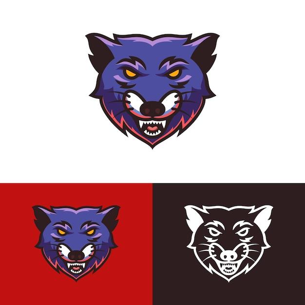 Wolf kopf logo Premium Vektoren