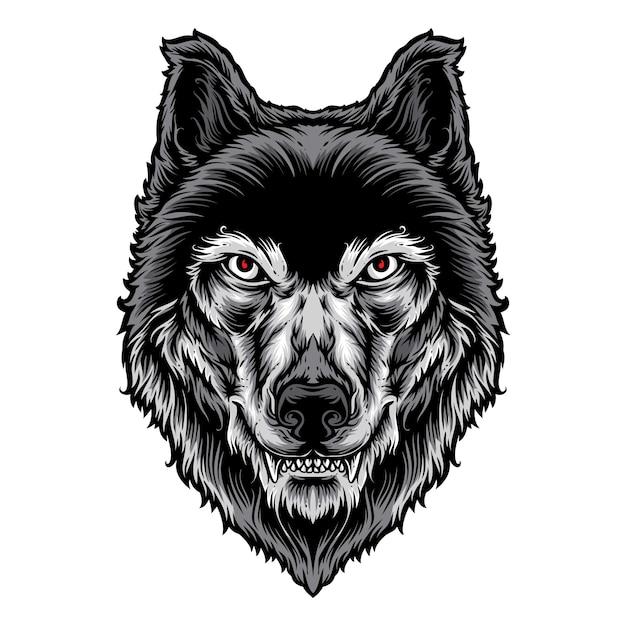 Wolf kopf vektor-logo Premium Vektoren