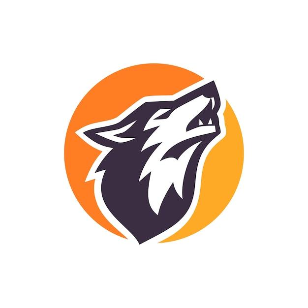 Wolf logo lager vektor Premium Vektoren