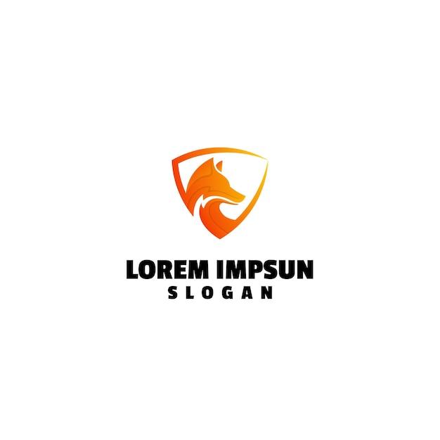 Wolf logo Premium Vektoren