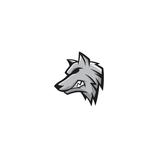 Wolf maskottchen logo design vector character Premium Vektoren
