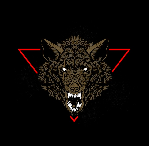 Wolfskopf Premium Vektoren