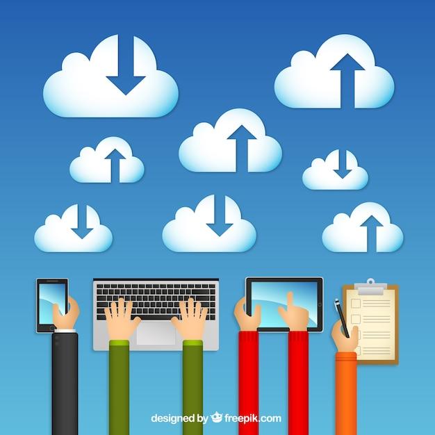 Wolken-computing-konzept Kostenlosen Vektoren