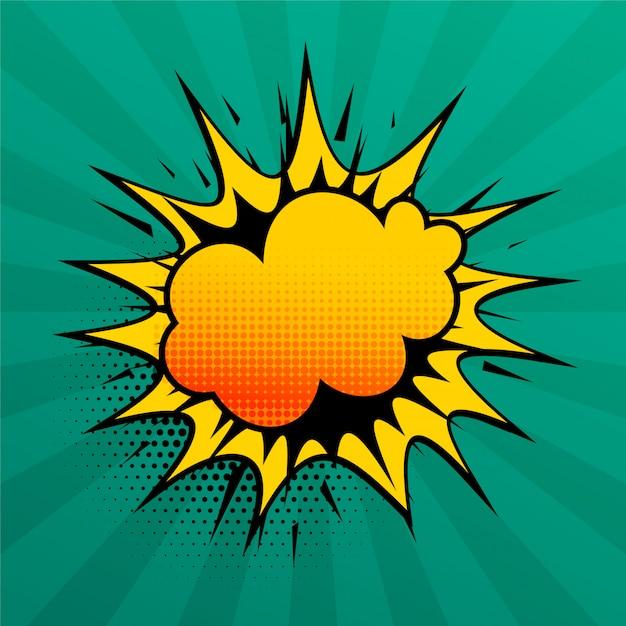 Wolkenexplosions-comicartsprache-effekthintergrund Kostenlosen Vektoren