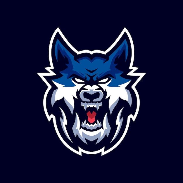 Wolves maskottchen logo Premium Vektoren