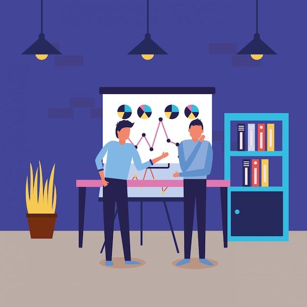 Workflow und infografik Kostenlosen Vektoren