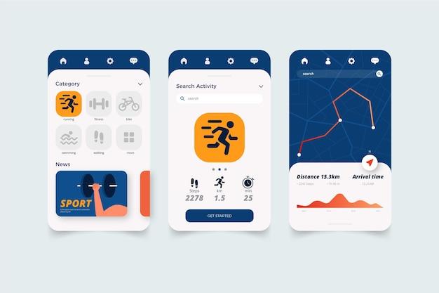 Workout-tracker-app Kostenlosen Vektoren