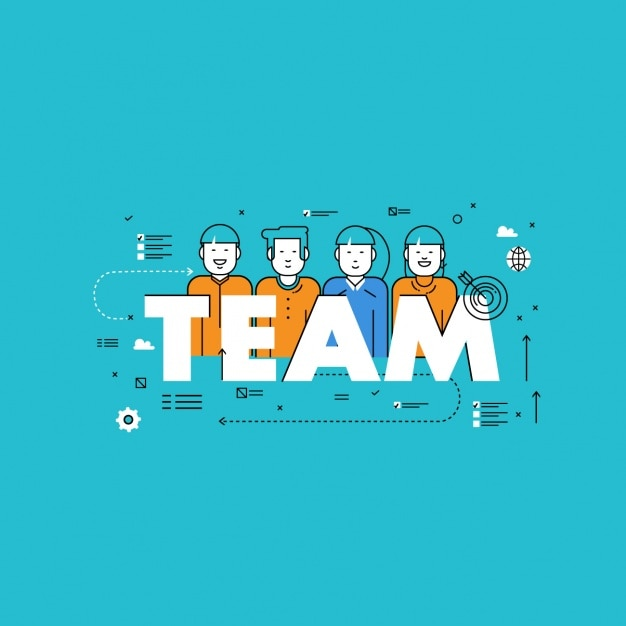 Workteam hintergrund-design Kostenlosen Vektoren