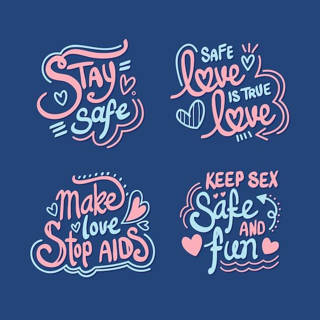 World aids day schriftstil Premium Vektoren