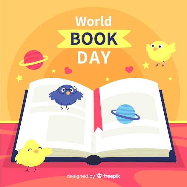 World book day hintergrund Kostenlosen Vektoren