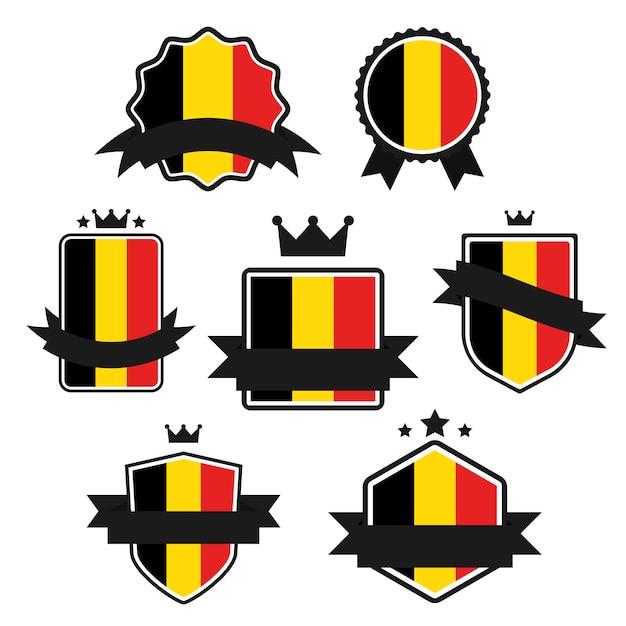 World flags series, flagge von belgien. Premium Vektoren