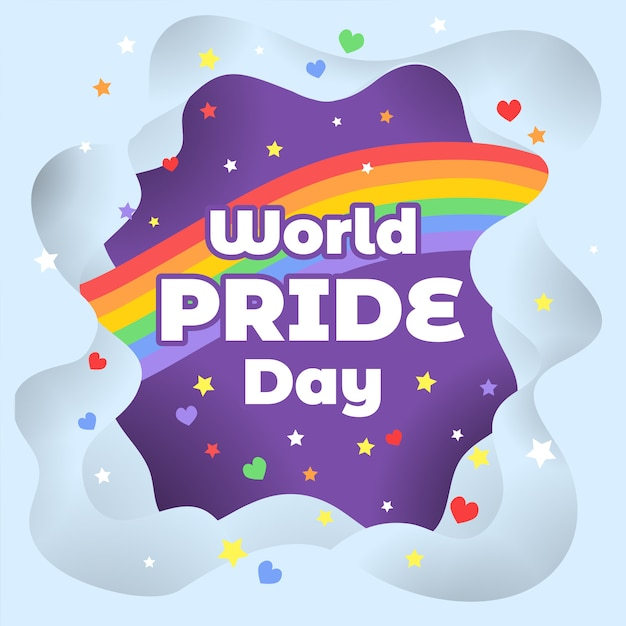 World pride day hintergrund Premium Vektoren