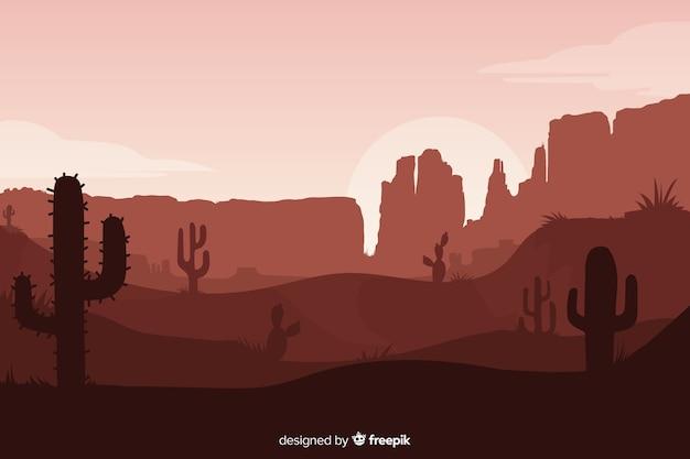 Wüstenlandschaft in sepia-tönen Kostenlosen Vektoren
