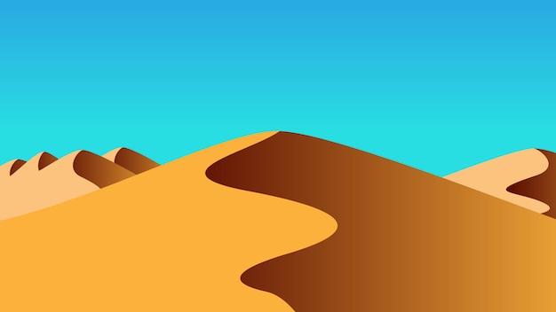 Wüstenlandschaft Premium Vektoren