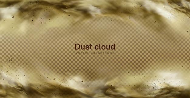 Wüstensandsturm, braune staubige wolke auf transparentem Kostenlosen Vektoren