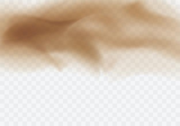 Wüstensandsturm, brauner staubiger wolken transparenter hintergrund Kostenlosen Vektoren