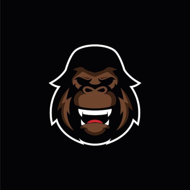 Wütend gorilla logo esports Premium Vektoren