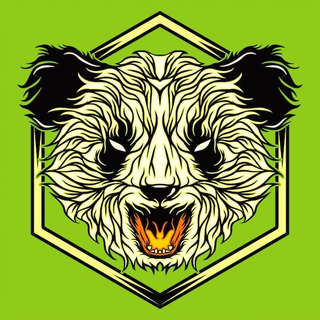 Wütender panda Premium Vektoren