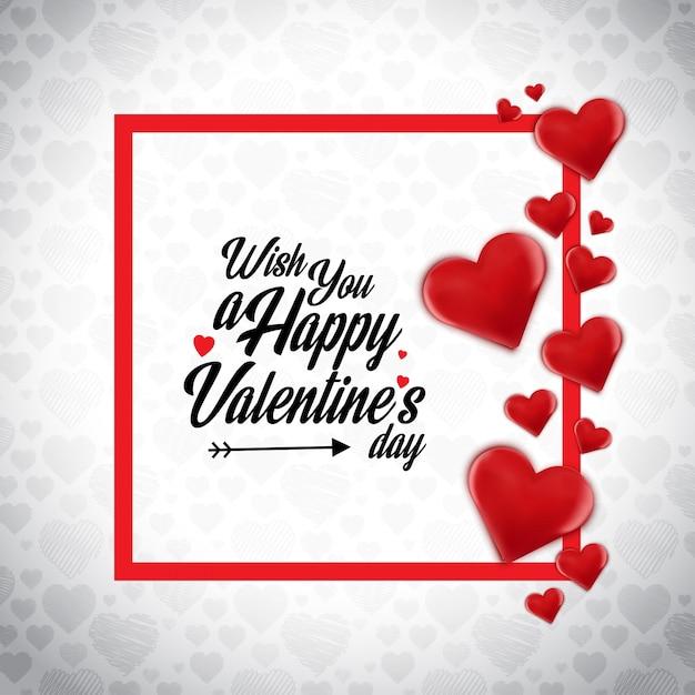 Wünsche Dir Eine Happy Valentinstagskarte Premium Vektoren