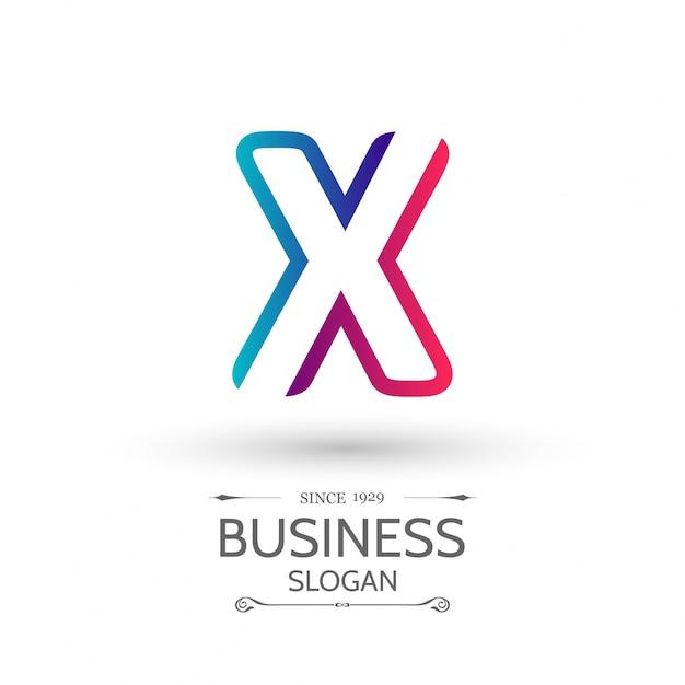 X brief logo business template bunte vektor-symbol Kostenlosen Vektoren