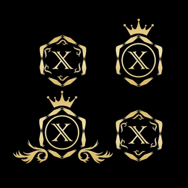 X luxus-logo-vektor Premium Vektoren