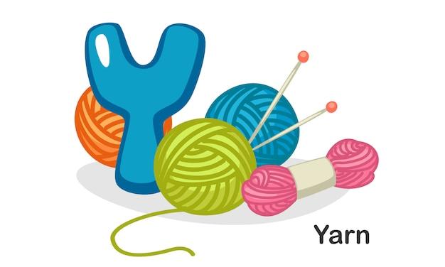Y für garn Premium Vektoren