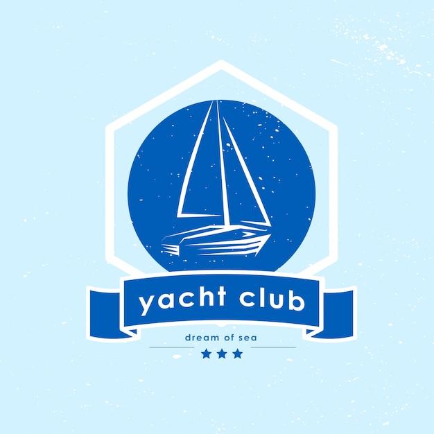 Yachtclub-logo. illustration. Premium Vektoren