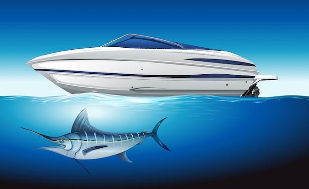 Yachtsegeln im meer Kostenlosen Vektoren