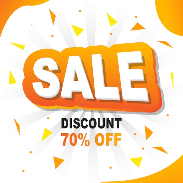 Yellow banner background flash-verkauf 20% rabatt Premium Vektoren