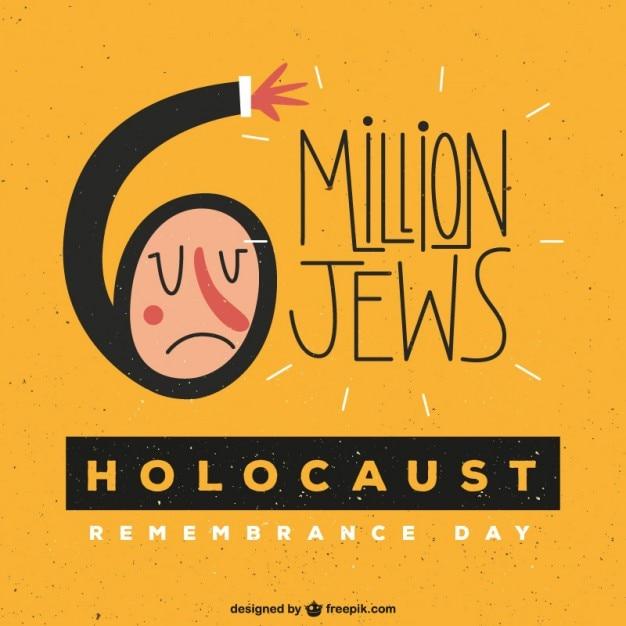 Yellow holocaust erinnern day background Kostenlosen Vektoren
