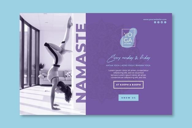 Yoga klassen banner vorlage Kostenlosen Vektoren