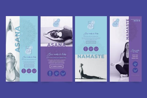 Yoga klassen instagram geschichten vorlage Kostenlosen Vektoren