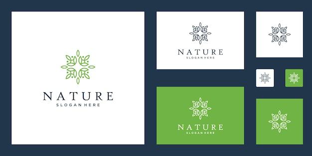 Yoga-kurse, natürliche, bio-lebensmittel und verpackung logo set Premium Vektoren