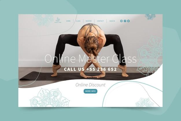 Yoga landing page vorlage Kostenlosen Vektoren