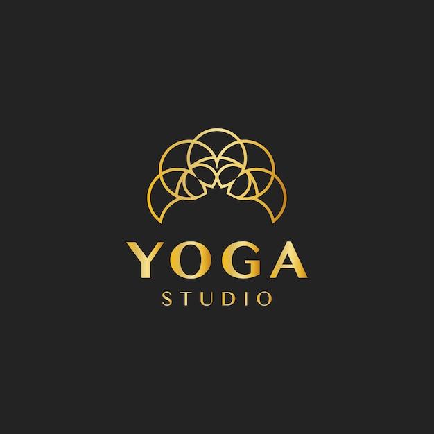 Yoga-studio-design-logo-vektor Kostenlosen Vektoren