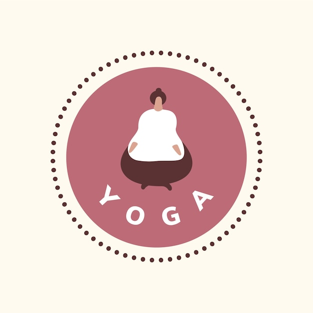 Yoga und meditation wellness-symbol Kostenlosen Vektoren